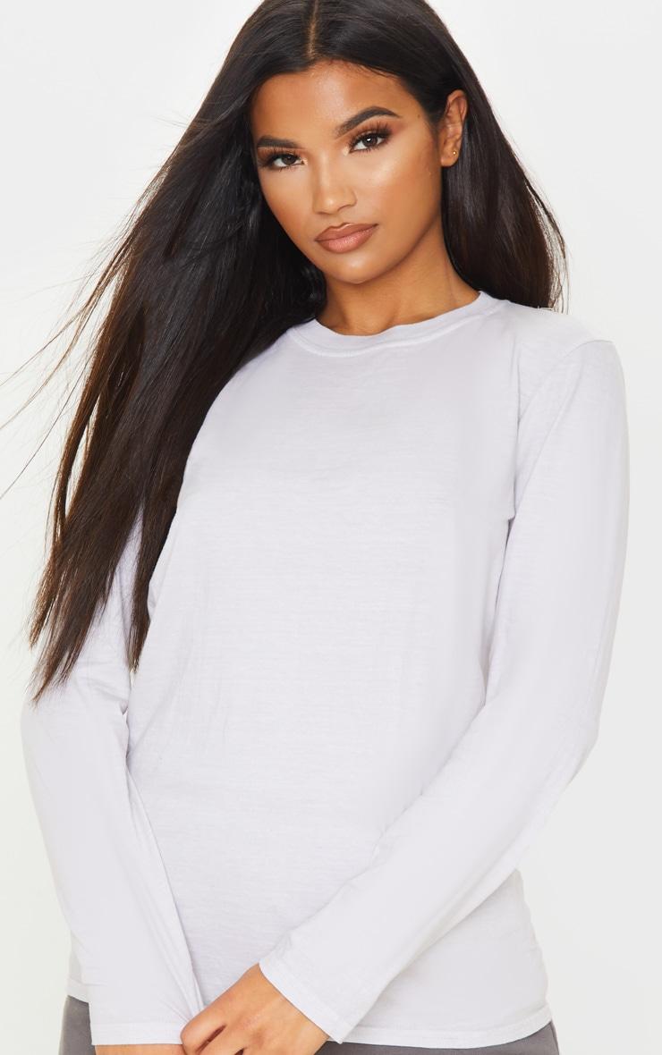 T-shirt sable délavé à manches longues 5