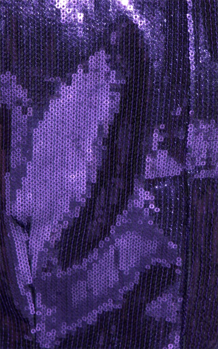 Ingrid Purple Sequin Dress 6