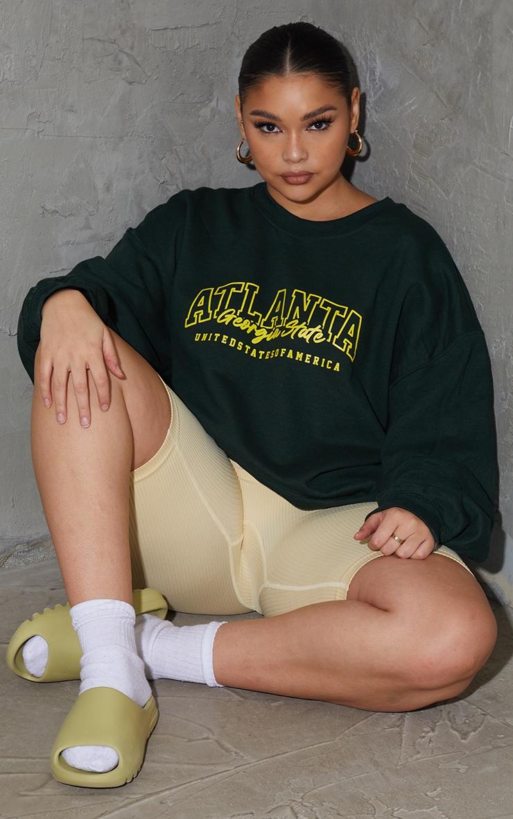 Plus Green  Atlanta Slogan SweatShirt 1