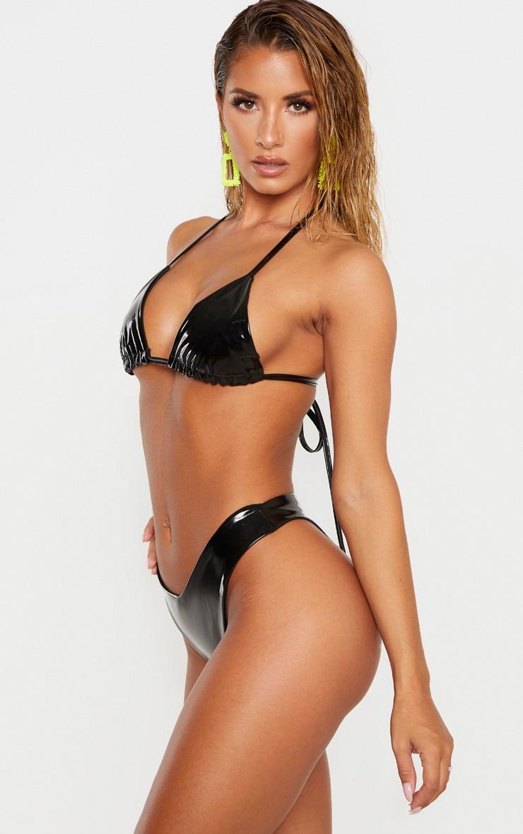 Black Vinyl Bikini Bottom image 2