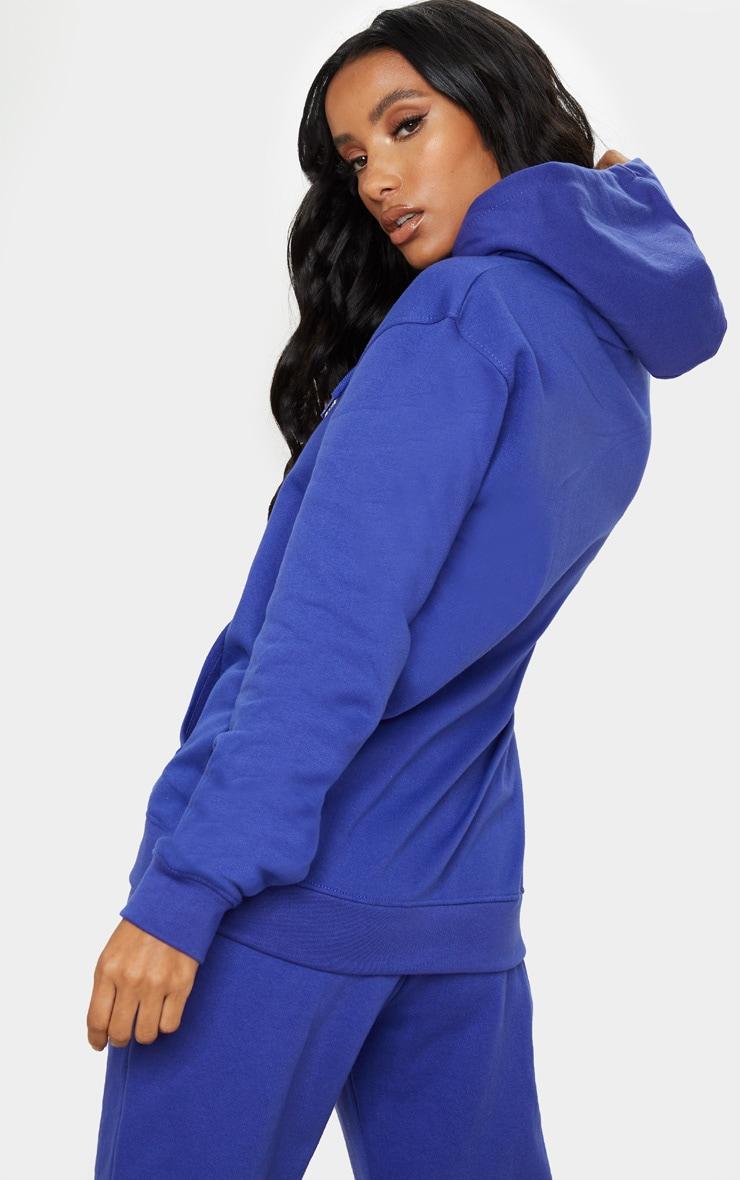 Hoodie oversize bleu royal classique 2