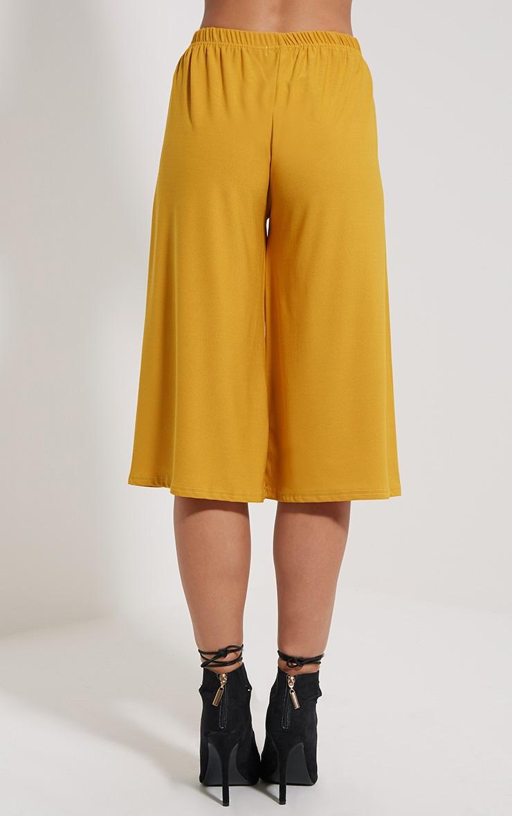Aalia Mustard Crepe Culottes 4
