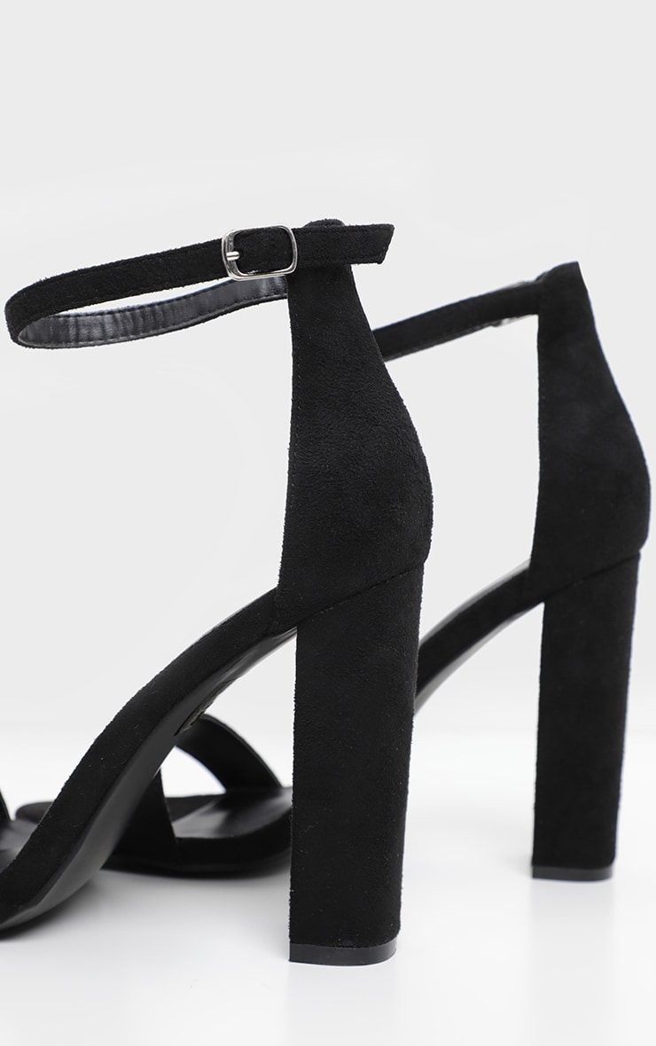 Black Wide Fit Block Heeled Sandals 3