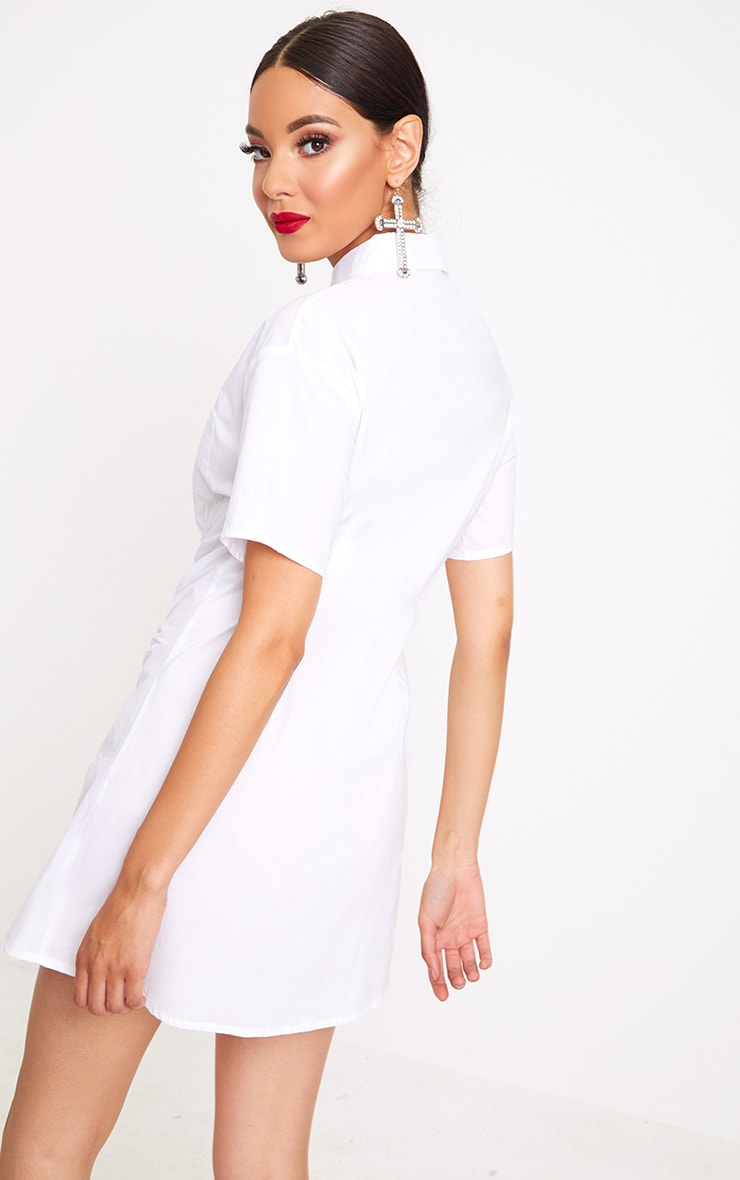 White Hook & Eye Shirt Dress 2