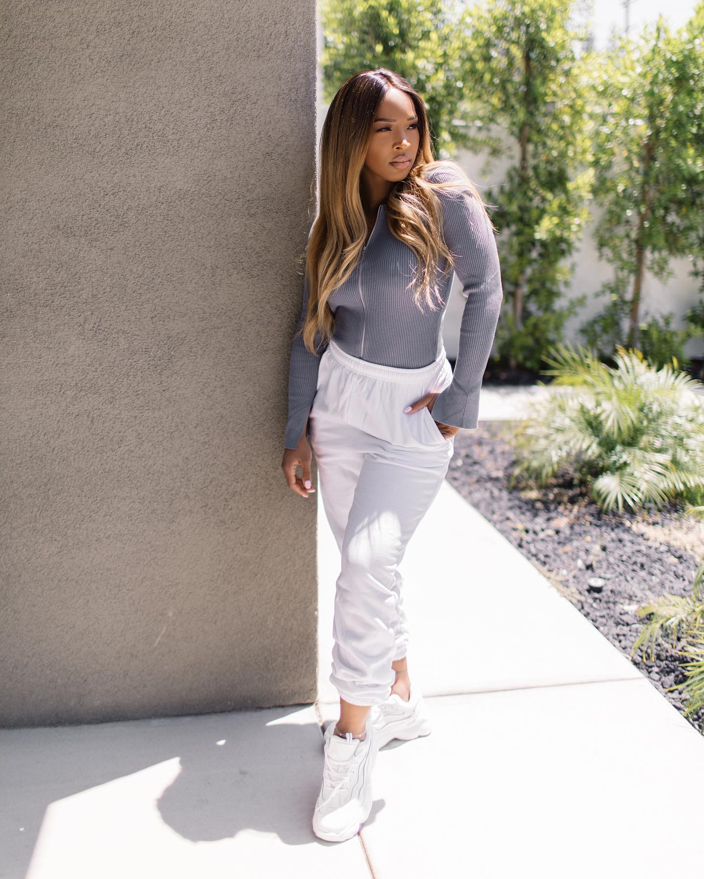 White Casual Jogger 1