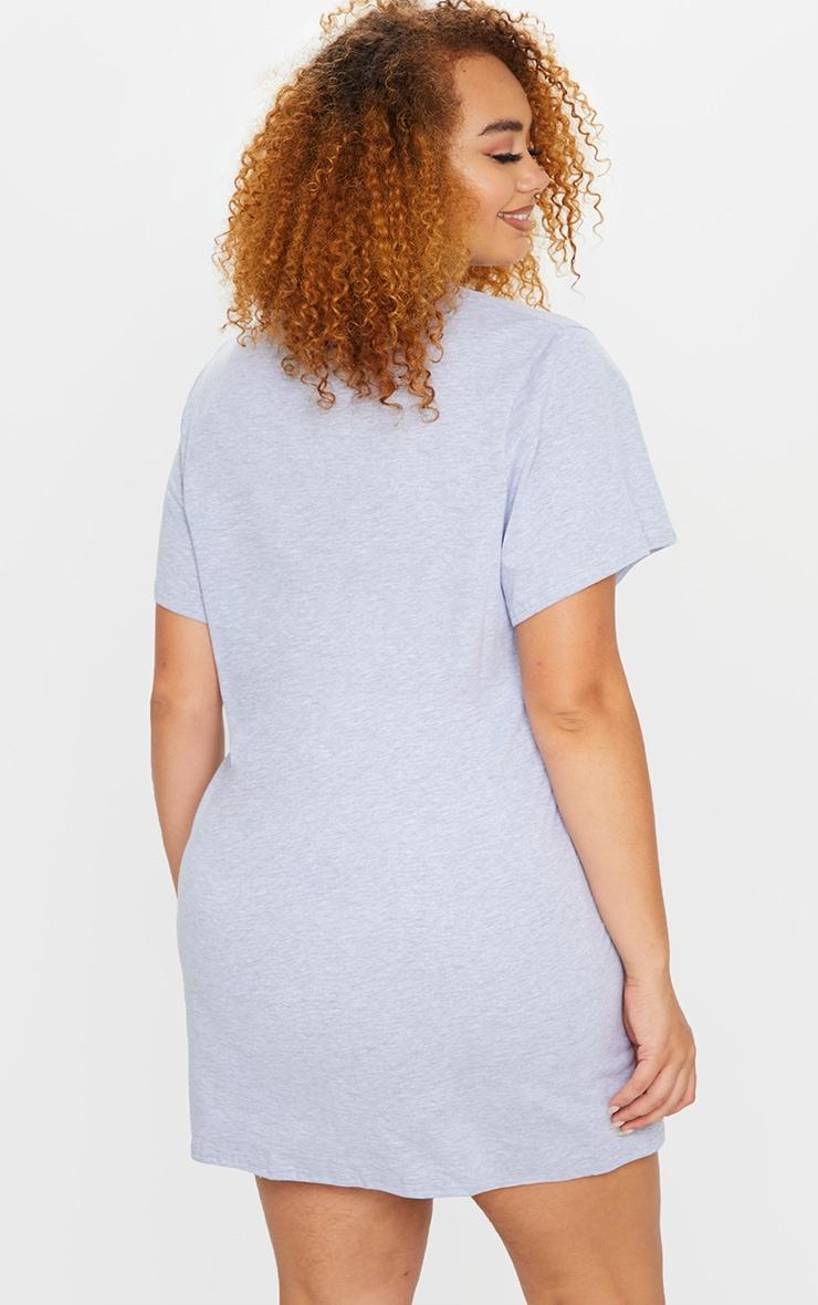 Plus Grey Brooklyn T Shirt Dress 2