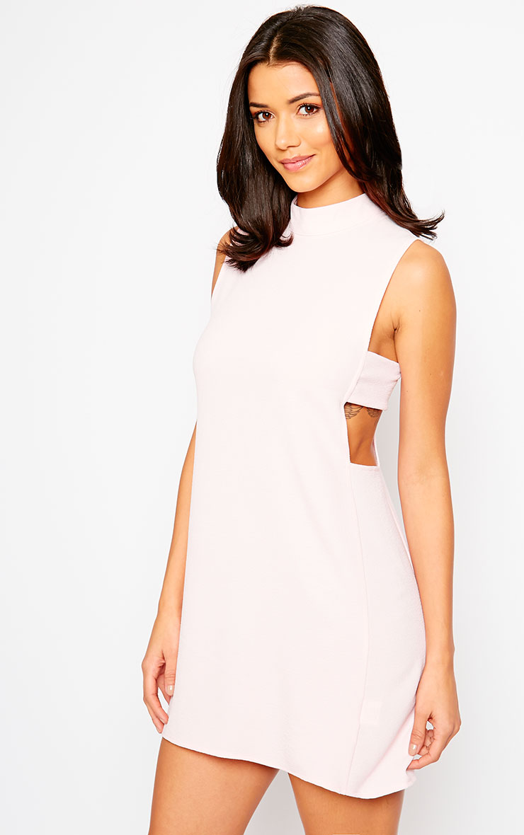 Rina Blush Cut Out Tabard Dress 1