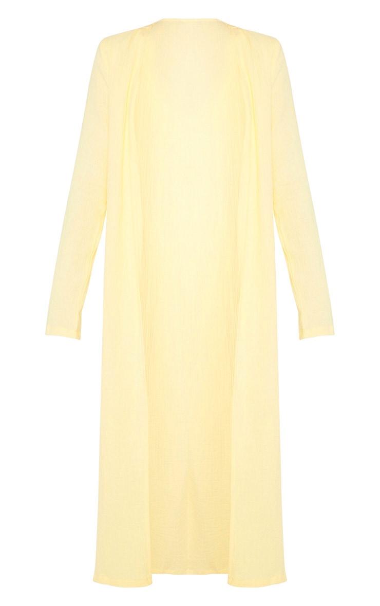 Tall Lemon Woven Longline Duster Jacket 3