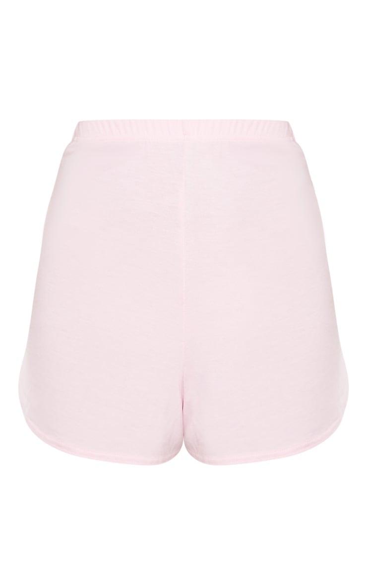 Pastel Pink Basic Runner Short 3
