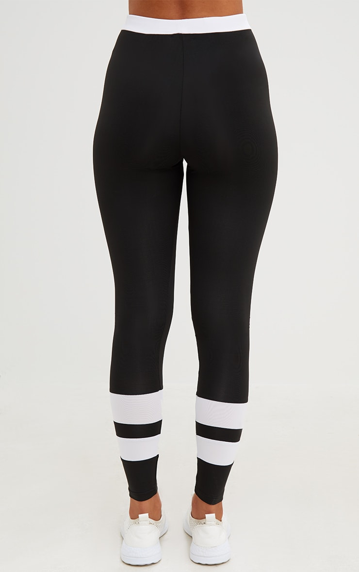 Black Contrast Leggings 4