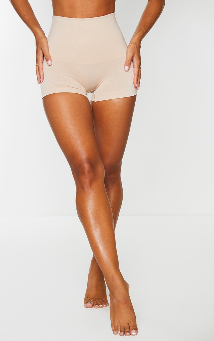 Nude High Waisted Shapewear Shorts 2