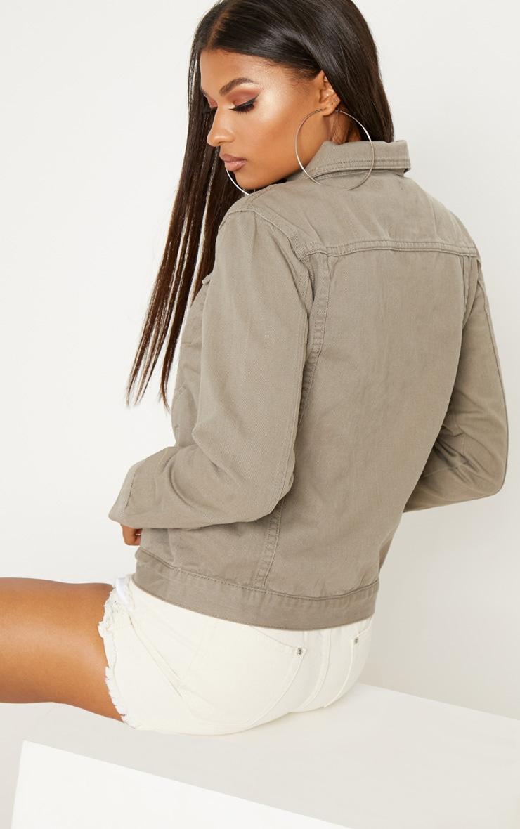 Taupe Denim Jacket  2