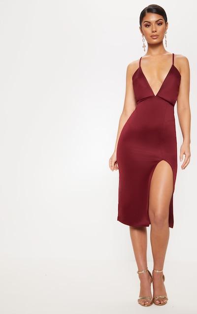 Midi Dresses Knee Length Dresses Uk Prettylittlething