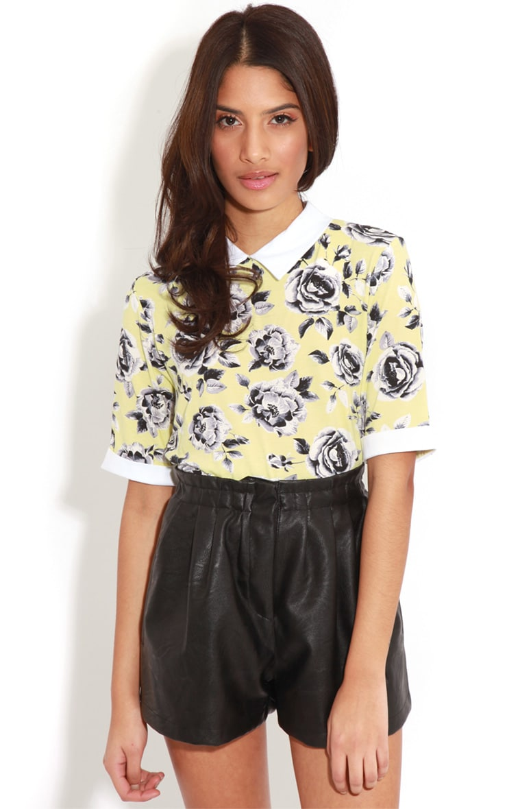 Elizabeth Yellow Floral Collar Top 4