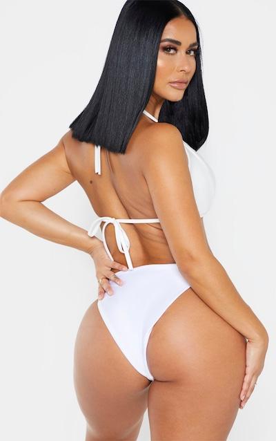 Shape White Triangle Bikini Top
