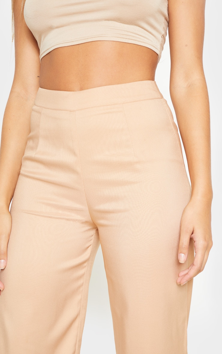 Beige Wide Leg Suit Trouser 5