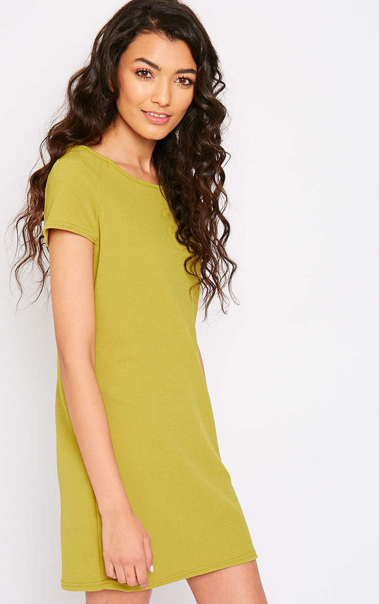 Camila Olive Loose Fit Shift Dress 4