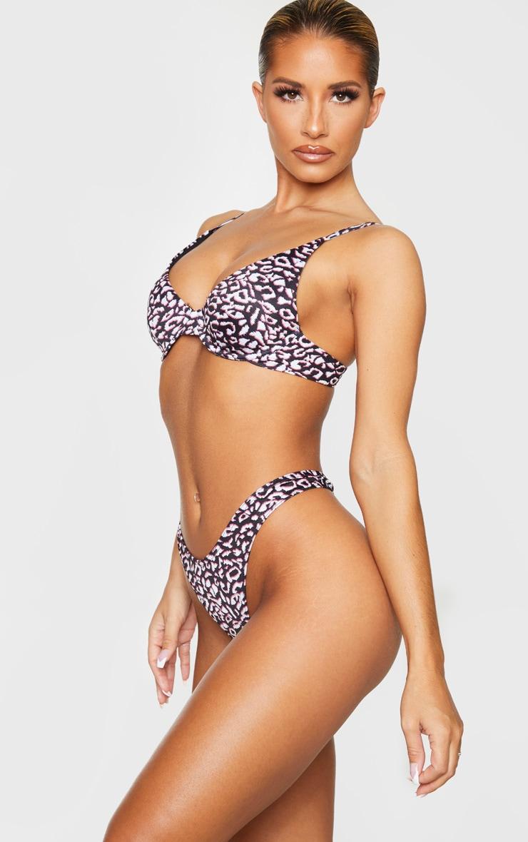 Leopard Thong Bikini Bottom 2
