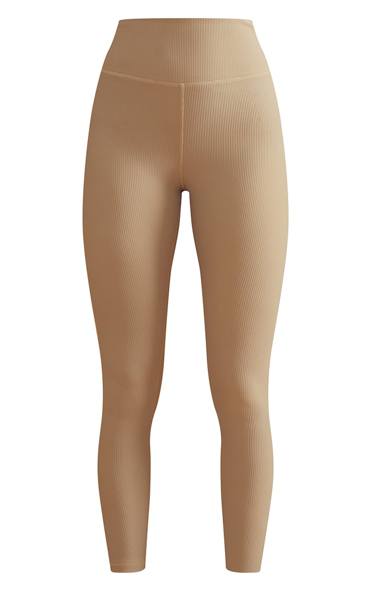 Olive Sculpt Ribbed Textured Gym Leggings 5
