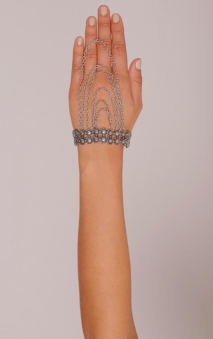Stephania Silver Upper Arm Chain Cuff 2