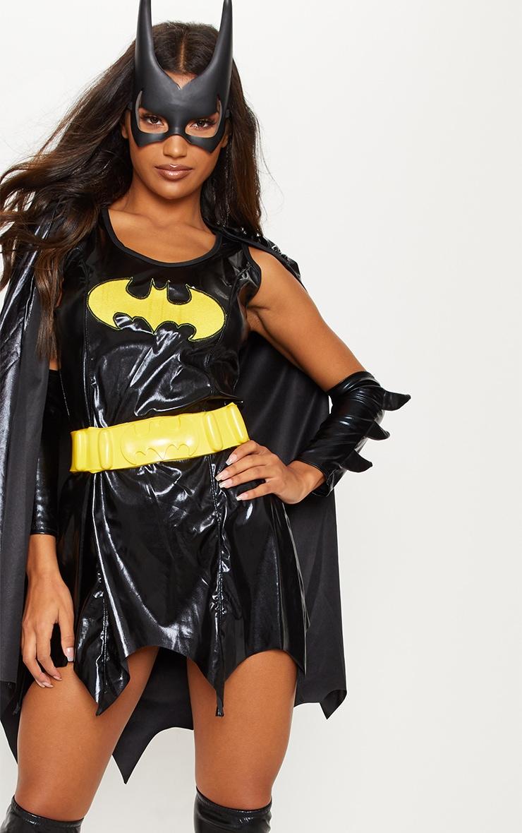 Black Batgirl Fancy Dress Costume 5