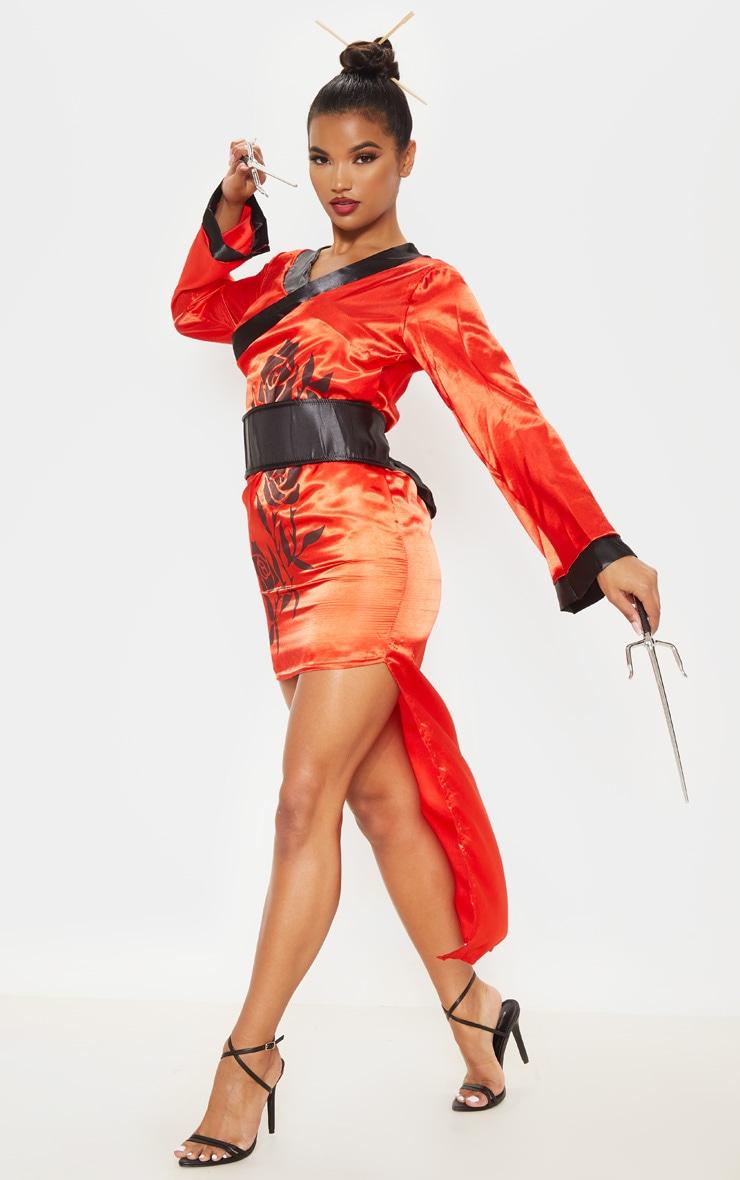 Red Sexy Samurai Costume 4