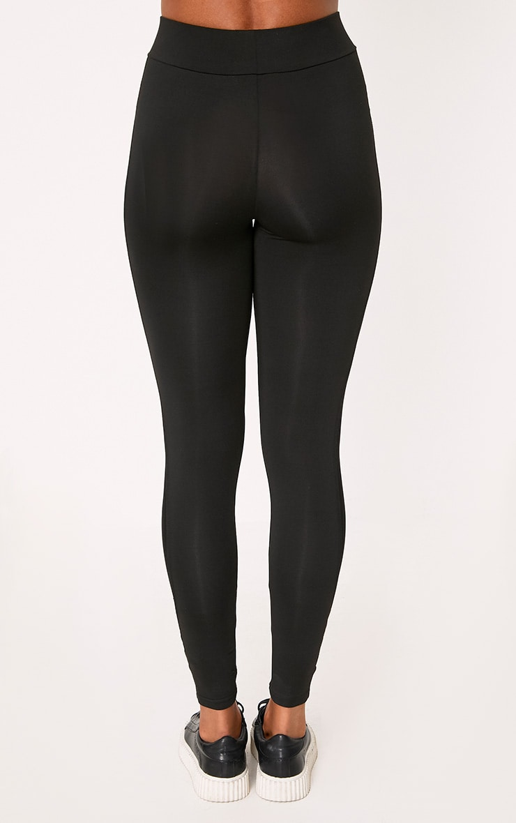Saskia Black Mesh Side Panel Leggings 4