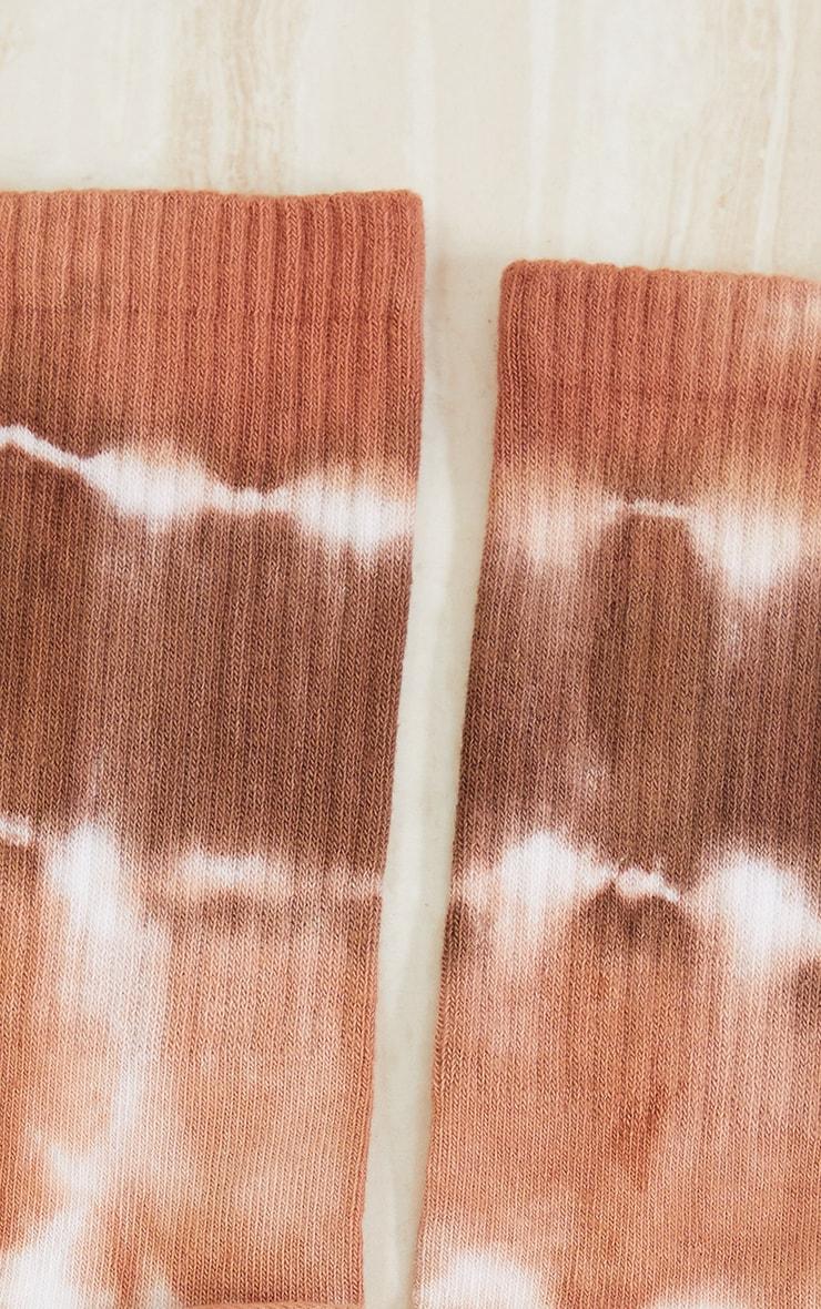 Chocolate Tie Dye Ankle Socks 3