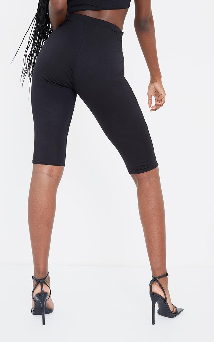 Tall Black Cropped Jersey Leggings 3