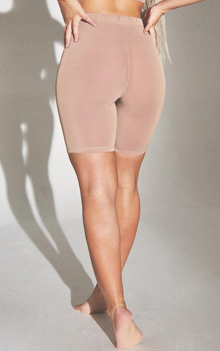 PLT Seconde Peau - Short de lingerie en mesh argile à taille haute 3