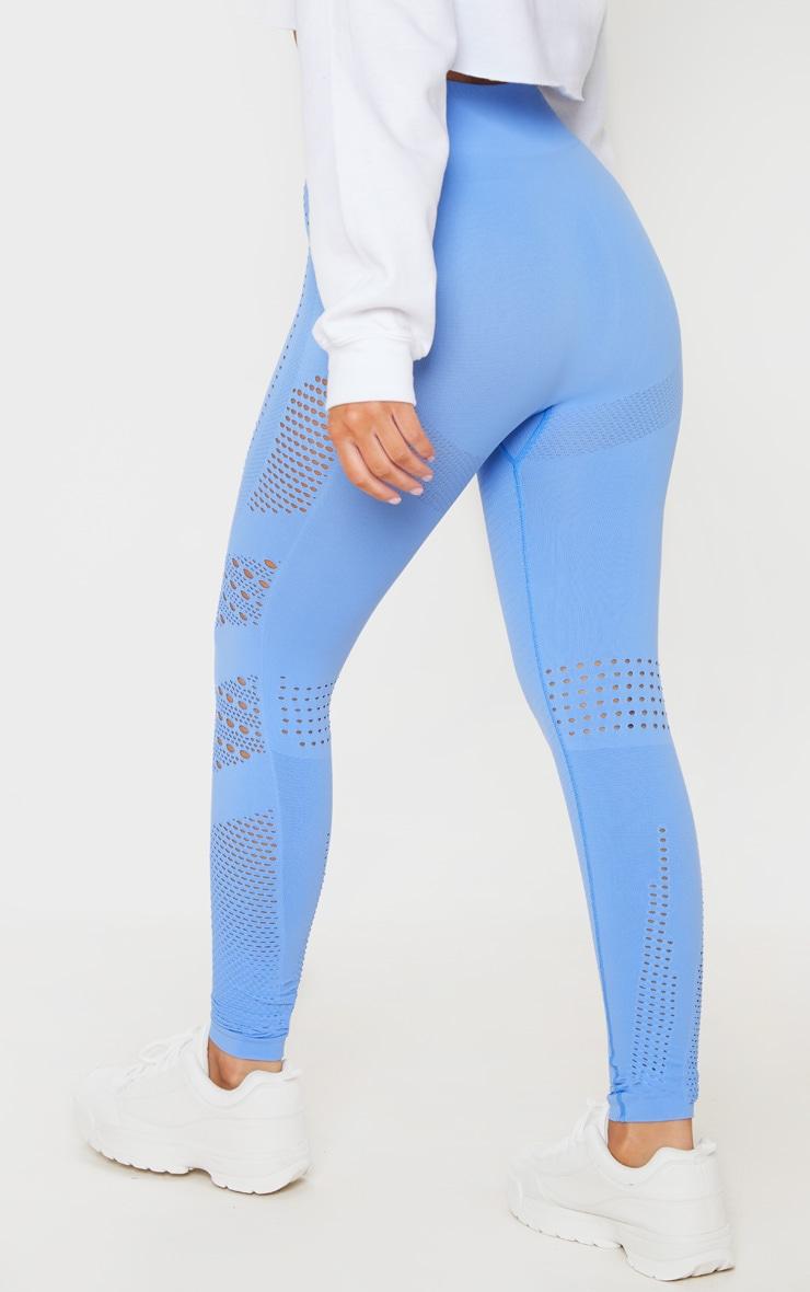 Blue Contour Seamless Cut Out Leggings 3