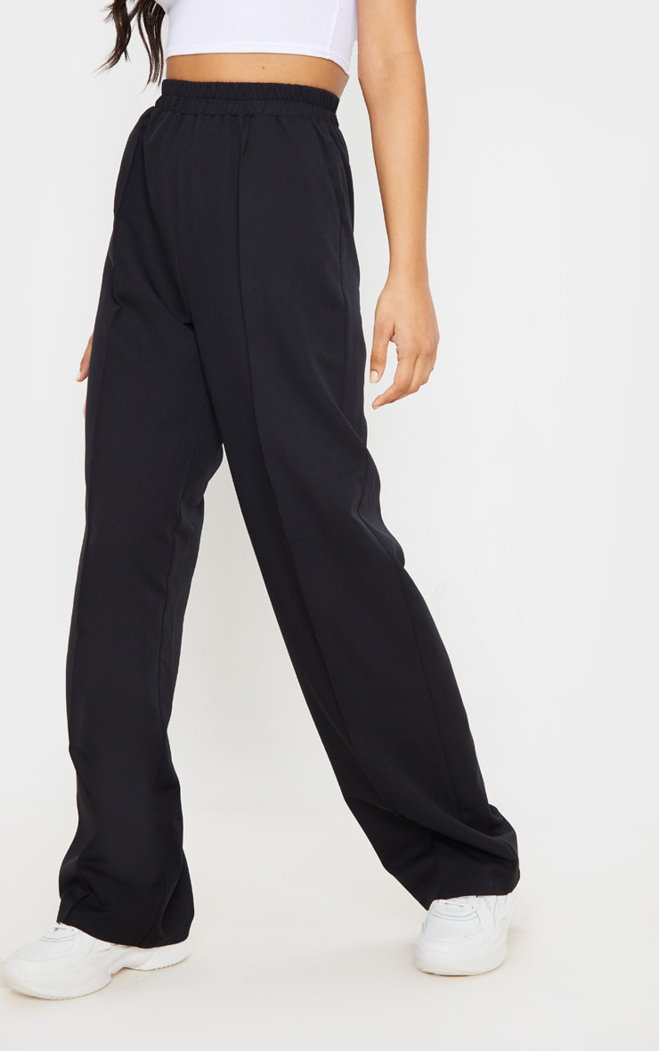 Black Waistband Straight Leg Pants 2