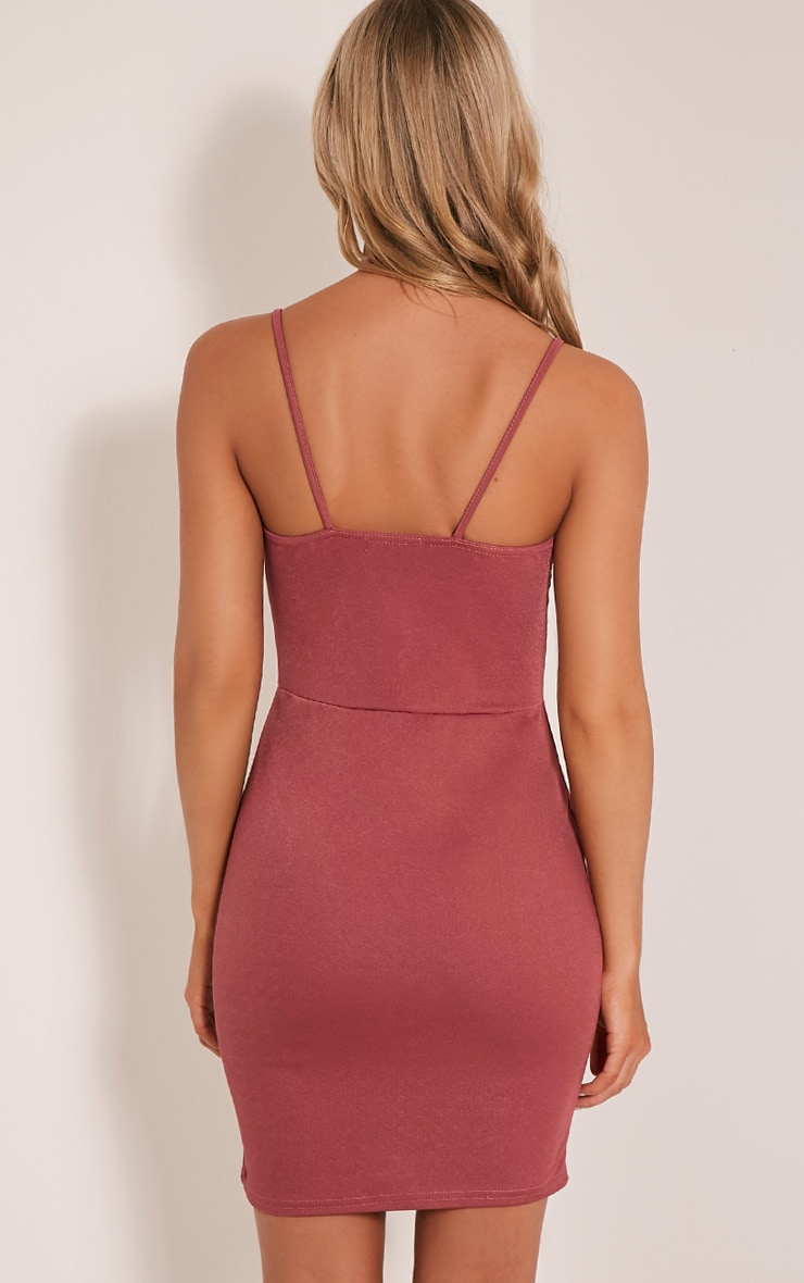 Aimee Rose Strap Detail Plunge Bodycon Dress 2