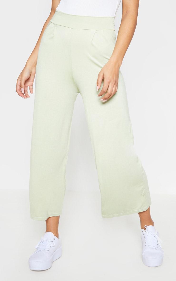 Sage Green Basic Culotte 2