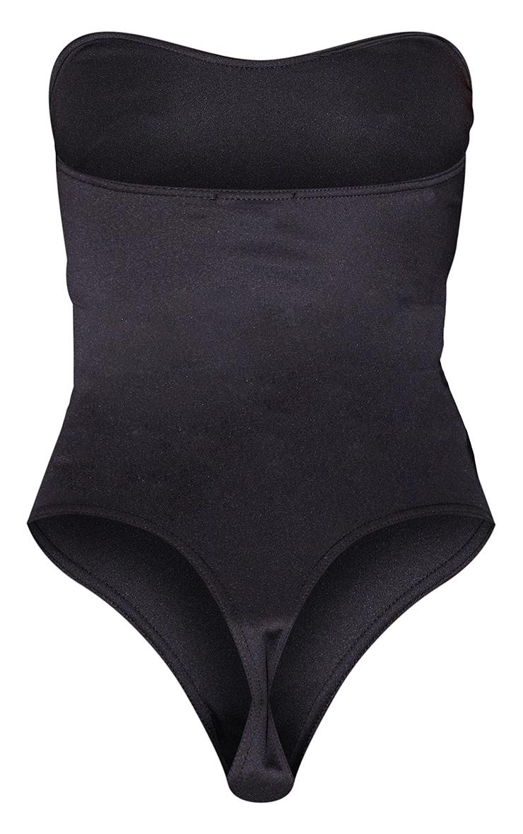 Tall Black Strapless Sweetheart Bodysuit 6
