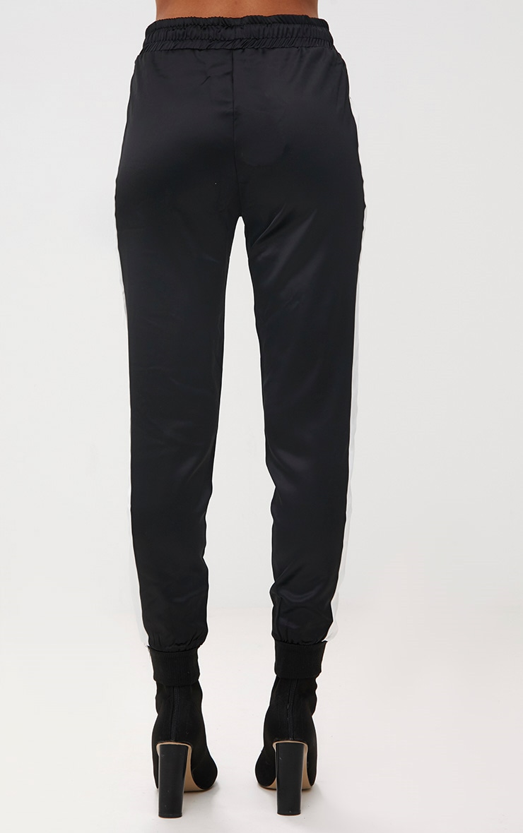 Black Sport Stripe Jogger  4