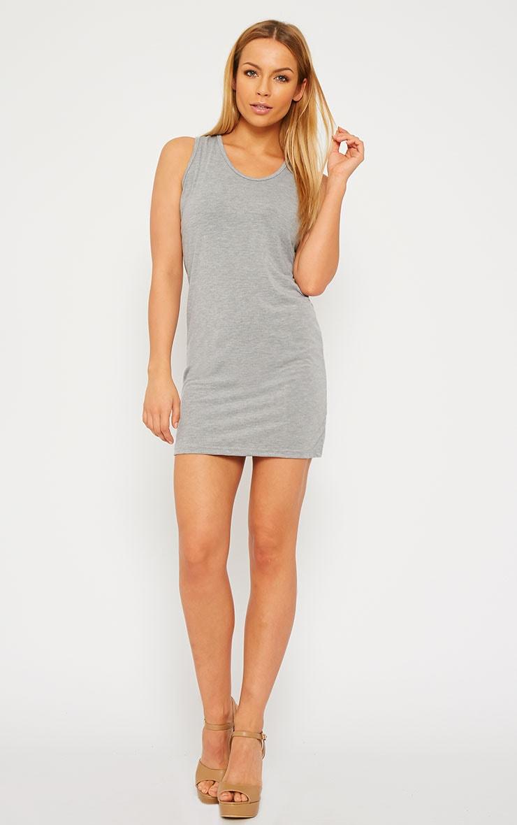 Basic Grey Jersey Mini Dress 3