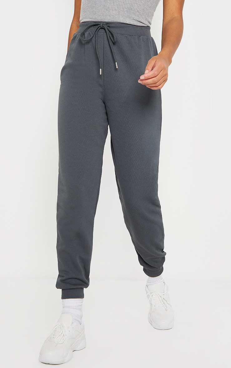 Charcoal Jersey Lounge Skinny Track Pants  2
