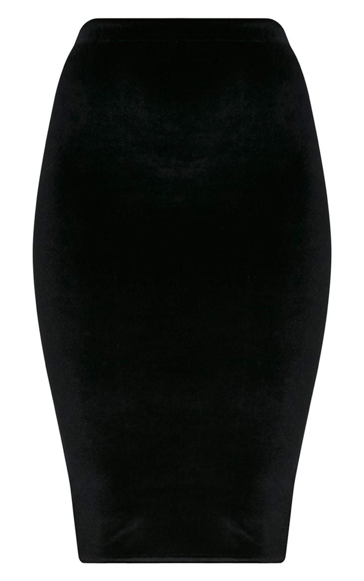 Roberta jupe midi en velours noire 3
