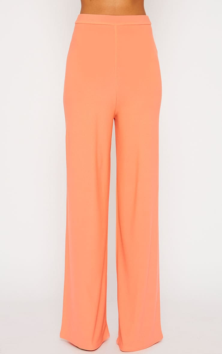 Zafia Orange Crepe Palazzo Trousers 2
