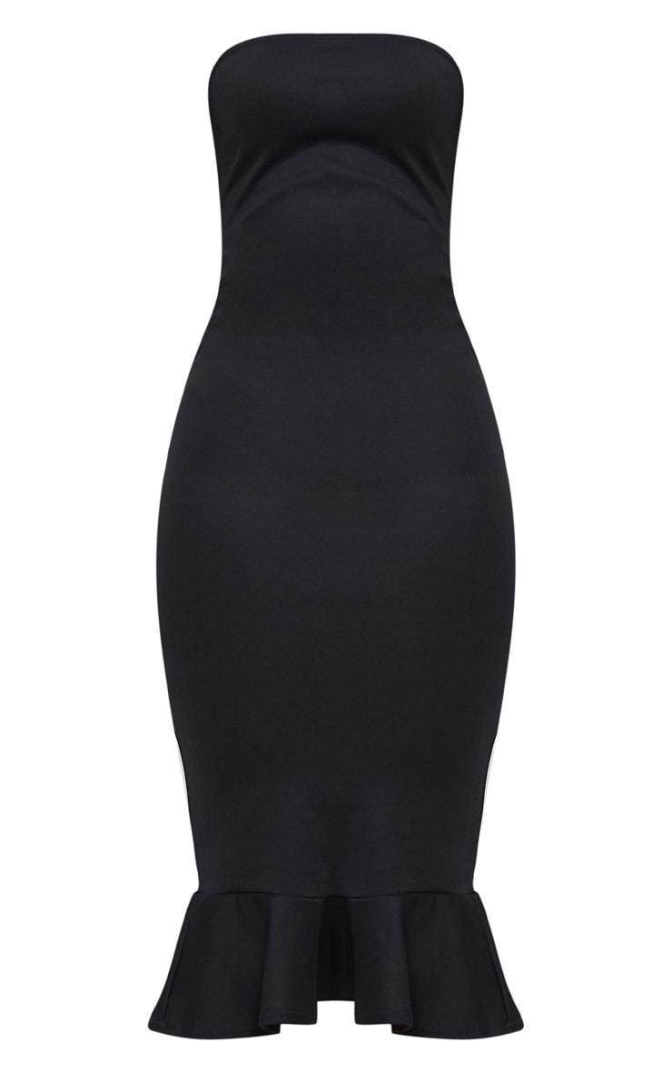 Isabella Black Bandeau Frill Hem Midaxi Dress 3