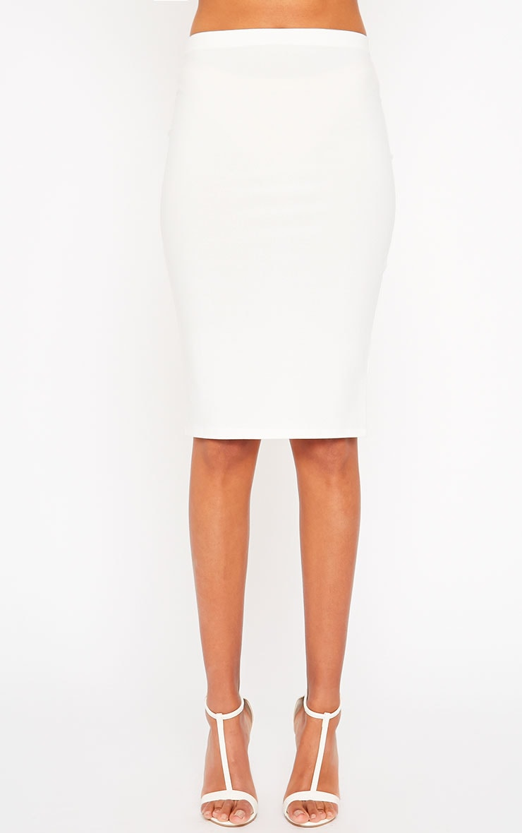 Klarisa Cream Midi Skirt 2