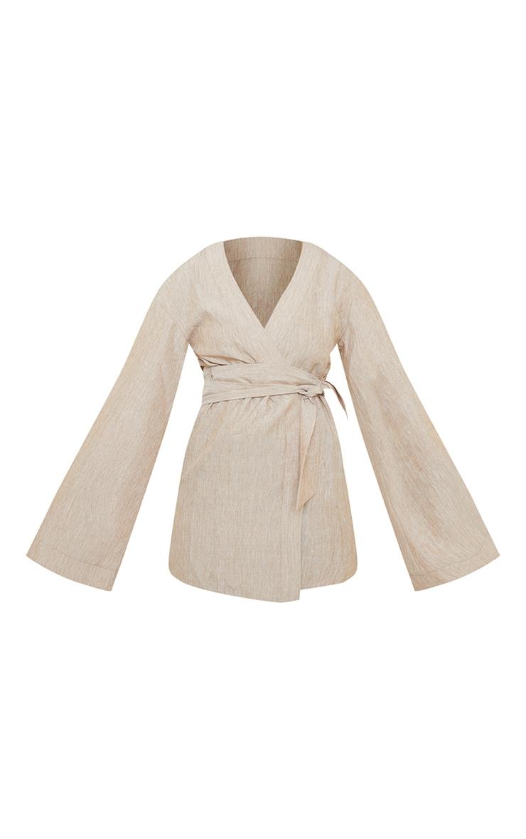 Stone Flare Sleeve Wrap Dress 6