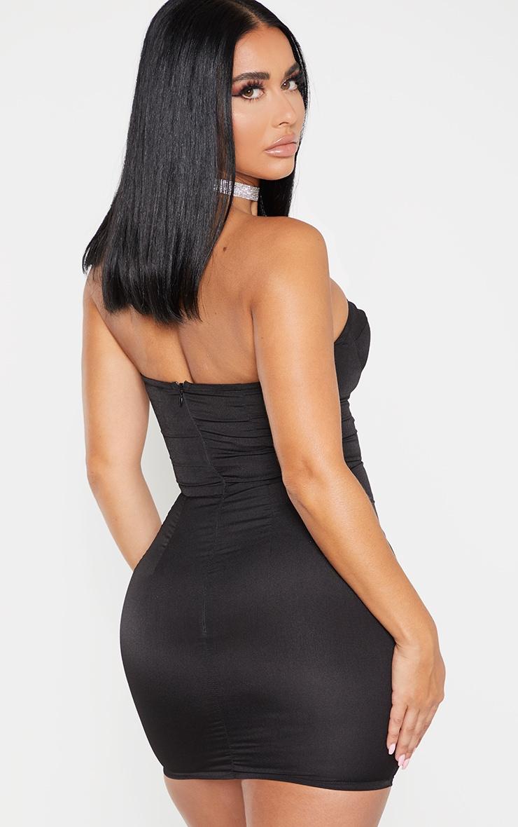 Shape Black Cup Detail Bodycon Dress 2
