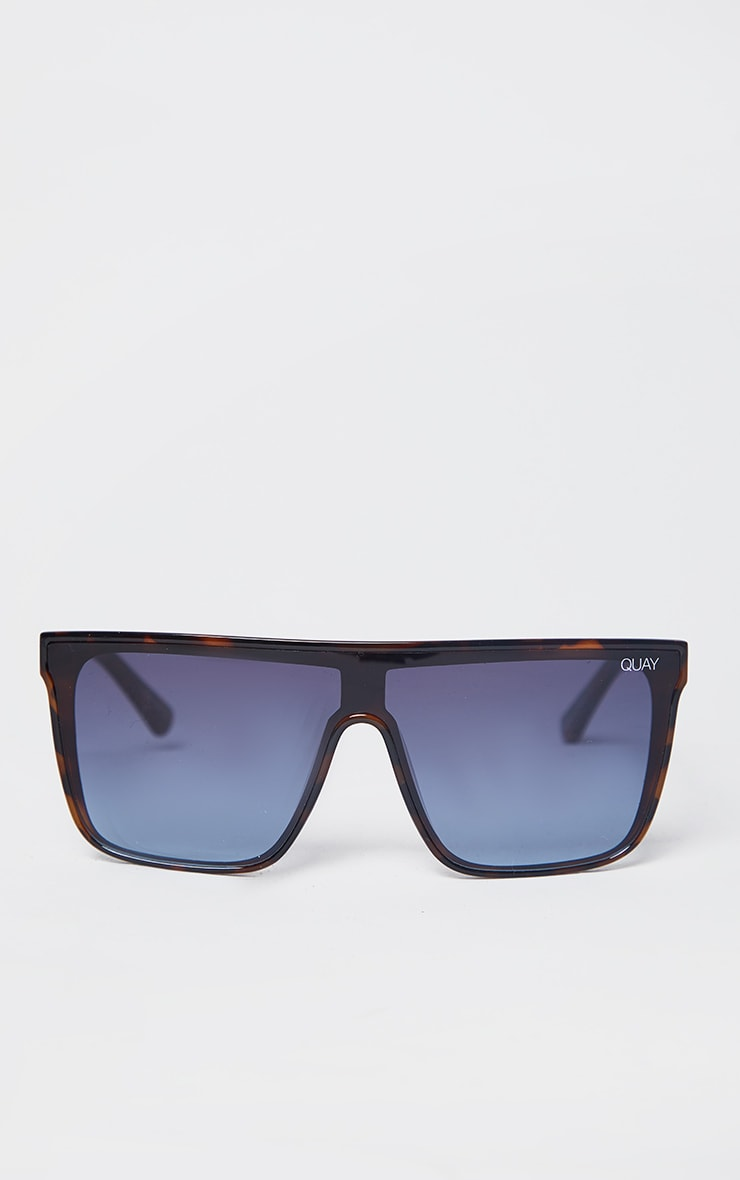 Quay X Chrissy Blue Oversized Square Frame Nightfall Sunglasses 2