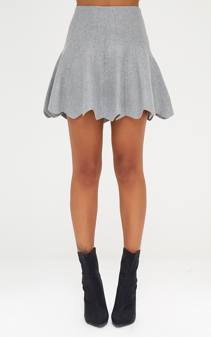 Grey Knitted A line Skirt 2