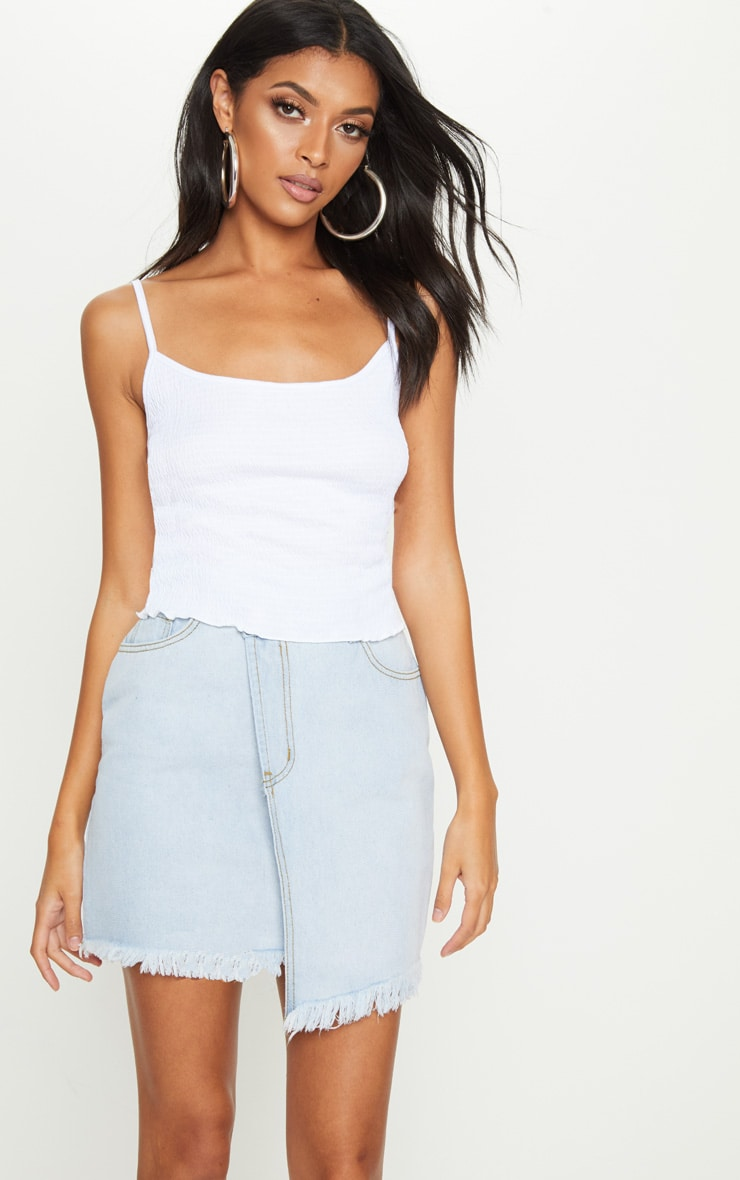White Crinkle Textured Cami Top 1