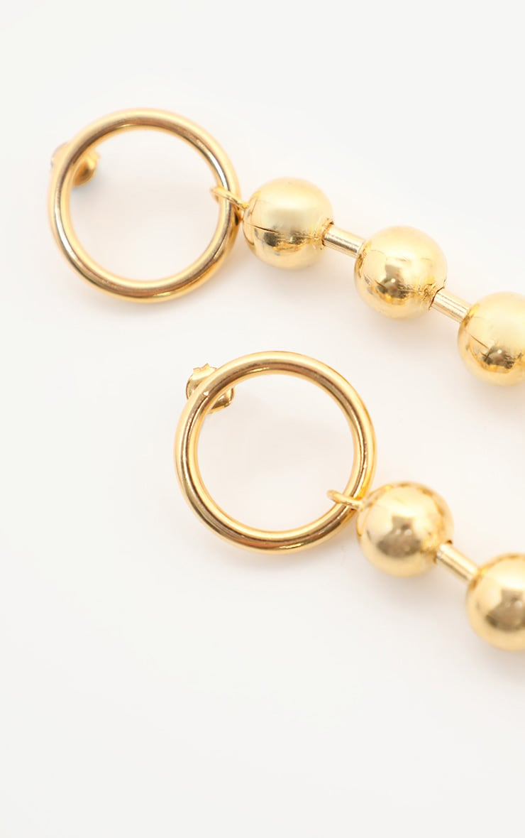 Gold Ball Chain Drop Earrings 3