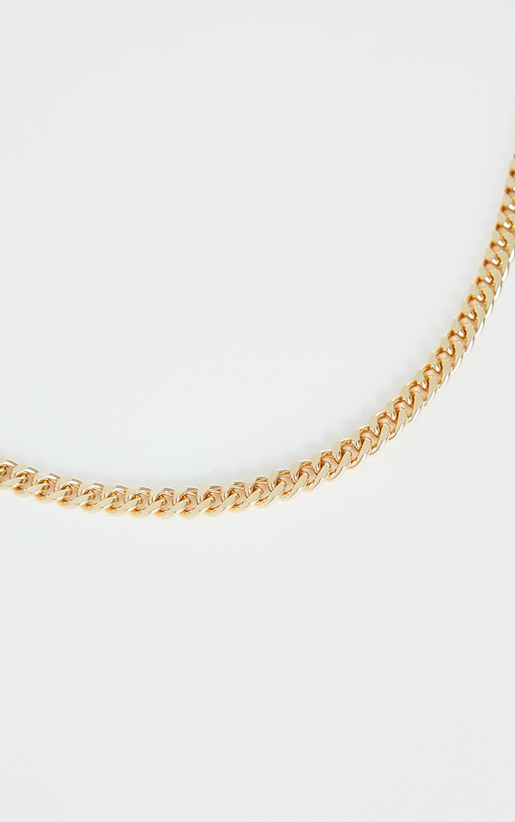 Gold Chunky Medium Chain Necklace 3