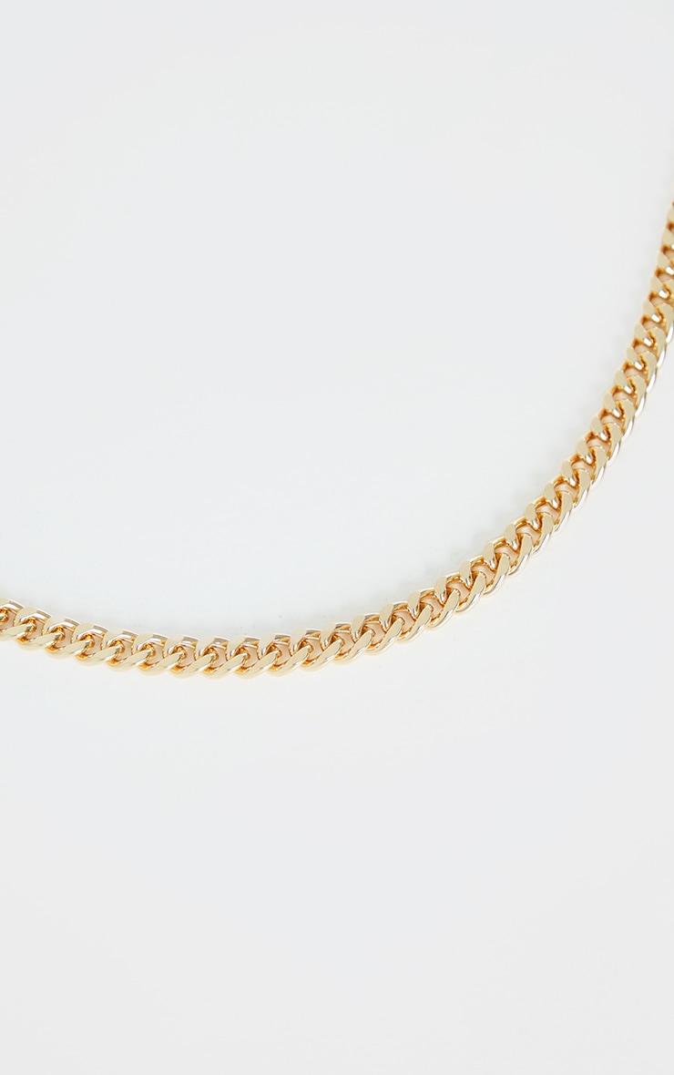 Collier doré à chaîne chunky moyenne 3